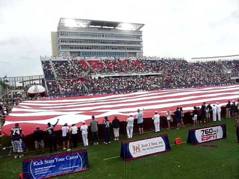 FAU Football Stadium national anthem vs WKU (Inaugural game)