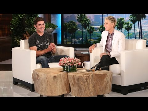 Zac Efron Is Ellen's Gardener