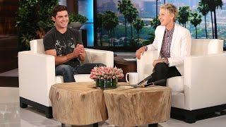 Zac Efron Is Ellen's Gardener