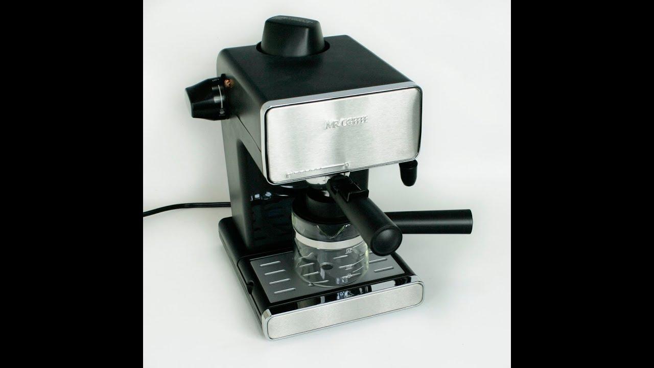 Mr. Coffee Steam Espresso & Cappuccino Maker - YouTube
