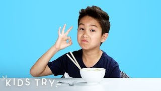 Kids Try Chinese Food from Around the World | Kids Try | HiHo Kids
