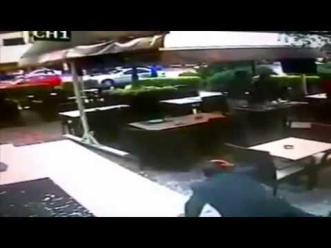 image vidéo كاميرا مطعم توثق لحظة انفجار الأشرفية في بيروت
