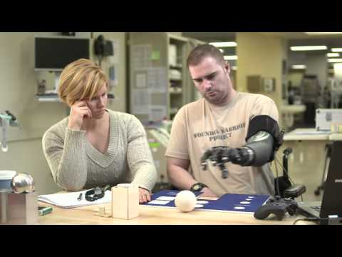 PROSTHETIC ROBOTIC ARM on a Wounded Warrior