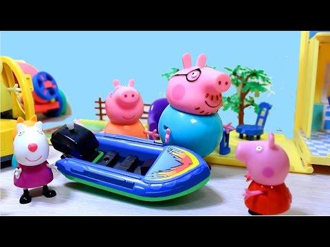 Cartoons for kids. Свинка Пеппа с друзьями на водном аттракционе ПОД ПРИСМОТРОМ ВЗРОСЛЫХ!