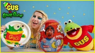 Mystery Spin Wheel Pancake Art Challenge with Ryan's World Toys!