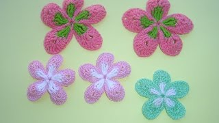 flor a crochet paso a paso Facil Tutorial DIY