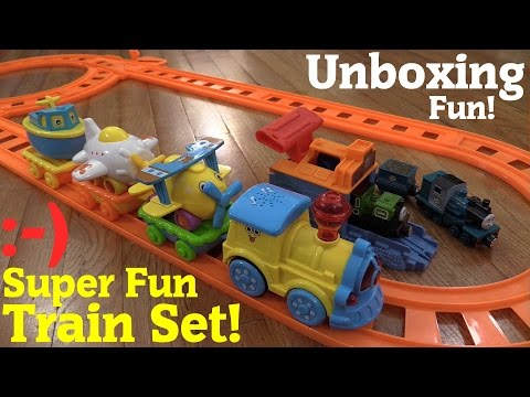 Thomas & Friends Take N Play Luke and Ferdinand + A Train Play Set w/ Light and Music Unboxing