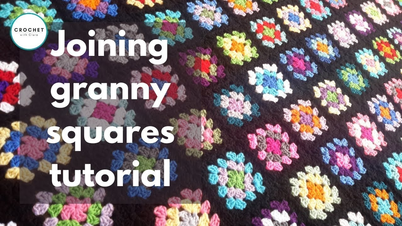 Crochet Tutorial Joining Squares : Crochet Joining Granny Squares Tutorial - YouTube