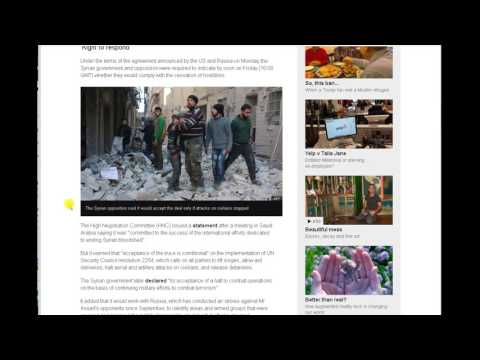 WW3 - Syria Conflict - US - Russia Truce Accepted By Warring Parties