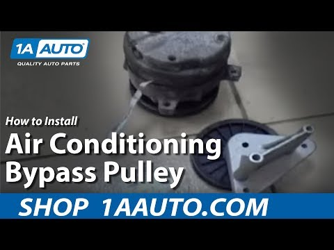 How To Install Replace Air Conditioning bypass pulley 1AAuto.com