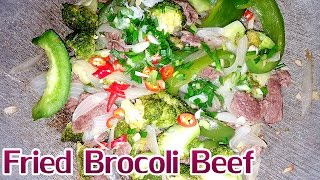 Khmer Food, Asian Food, Dinner recipes, Easy recipes, Khmer cooking food, Fried Broccoli Beef