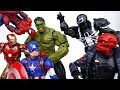 Avengers Fights Against Hydra~! Hulk, Iron Man, Spider Man, Captain America