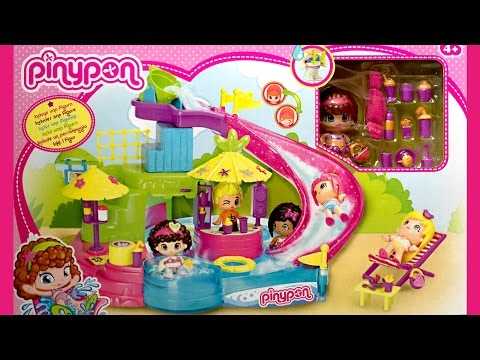 Pinypon Aqua Park Adventures Fun Pinypon Swimming Pool Water Park Pinypon Fiesta en la Piscina