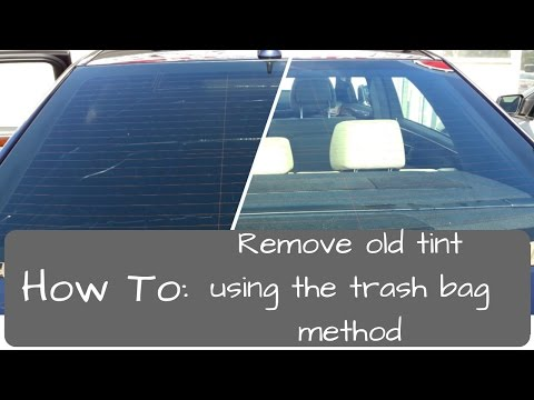 Window Tinting: Remove old tint. trash bag method