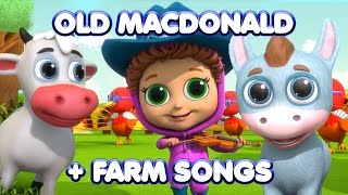 Old MacDonald + Farm Animal Songs | Nursery Rhymes | Kids Songs