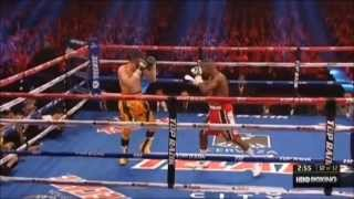 Nonito running away  from Rigondeaux, last round