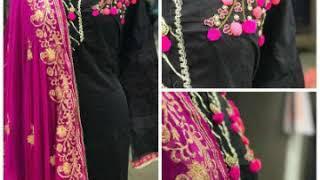 Beautiful designer dress material..!! Party wear dress materials ..