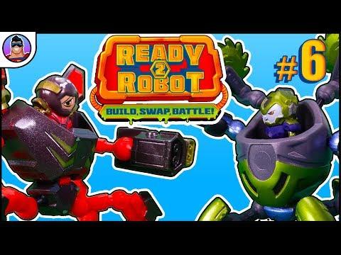 Ready2Robot  |  ROBOT BATTLE! #6 - Salvager battles our new Mech!!  |  Build, Swap, Battle!!