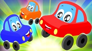 Little Red Car Rhymes - Five Little Babies | Nursery Rhyme | Funny Car Video