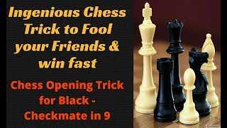 Ingenius Chess Opening TRICK to fool your friends : Chess trick for Black against Ruy Lopez
