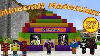 Minecraft Maceraları 27. Bölüm Jokerler Arif'le 216 Filmi Çektiler Örümcek Adam Minecraft'ta