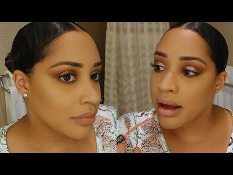 ROSE GOLD GLITTER BIRTHDAY MAKEUP   CHIT CHAT GRWM   QUITTING MY JOB, BEAUTY DRAMA, & MORE