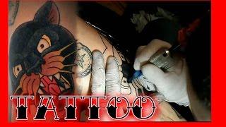 Тату процесс#1 Пантера   Panther Tattoo Process (Роман Партачник)