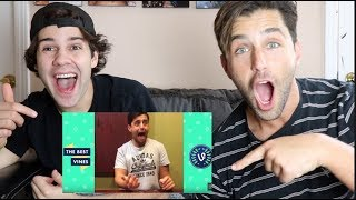 REACTING TO MY OLD CRINGEY VINES WITH DAVID DOBRIK!! (ROUGH)