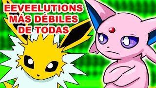 EVOLUCIONES DE EEVEE MÁS DÉBILES Y FUERTES EN COMPETITIVO |(Todas eeveelutions)|Scorph Pokémon