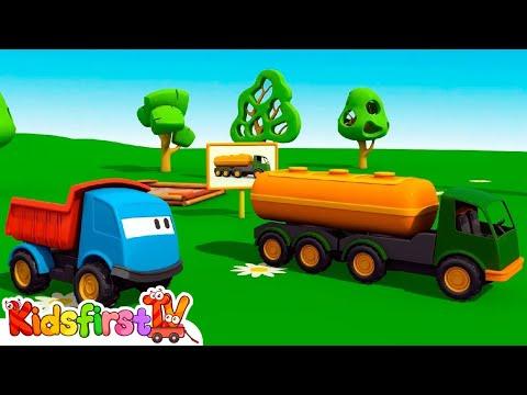 Kid's 3D Construction Cartoons for Children Leo's FUEL TANKER (for TuTiTu fans)