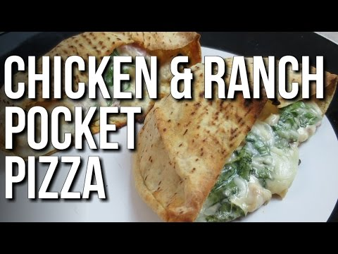 Bodybuilding Chicken & Ranch Pocket Pizzas video