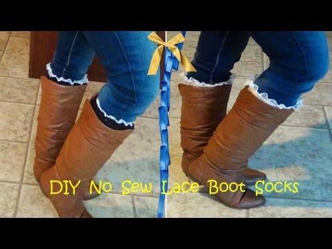 DIY No Sew Lace Boot Socks / Leg Warmers