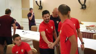 Llegada de Nolito a la gira del Sevilla FC en Japón 18/7/17