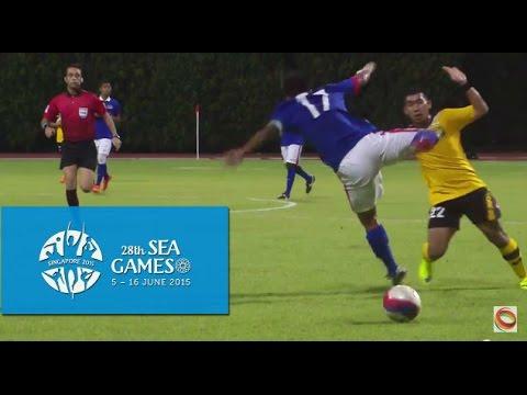 Football Brunei vs Malaysia First Half Highlights   28th SEA Games Singapore 2015