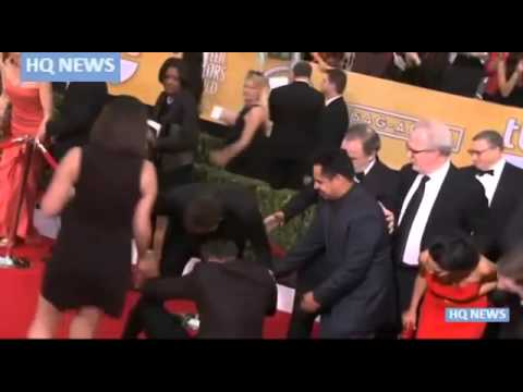 Bradley Cooper and red carpet prankster