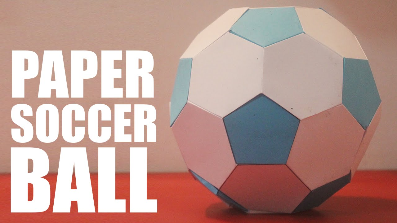 make a paper soccer ba...