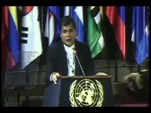 Presidente Correa en Conferencia Magistral en la CEPAL: Tema: Desafíos de América Latina