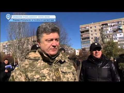 Ukraine Elections 2014: President Petro Poroshenko vists eastern frontline as soldiers vote
