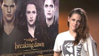 Kristen Stewart on filming sex scenes - Twilight Saga - Breaking Dawn Part 2 interview