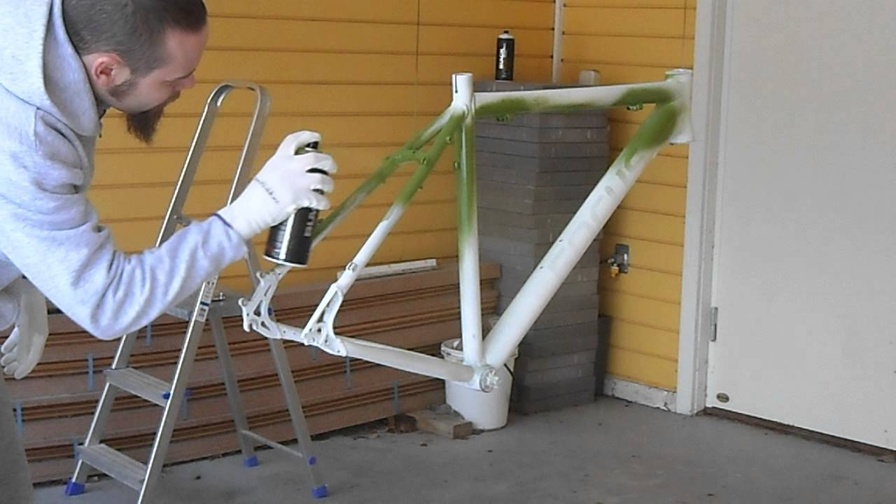 Painting A Bike Frame By Hand