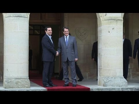 New Greek PM in Cyprus on first foreign trip