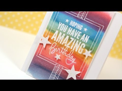 Distress Marker Watercolor Resist - Make a Card Monday #243