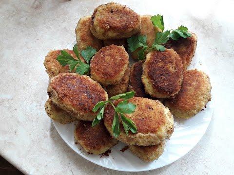 Картофельные котлеты с сыром и ветчиной