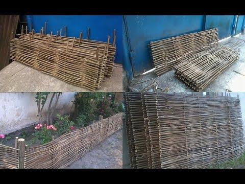 Забор из плетеного орешника
