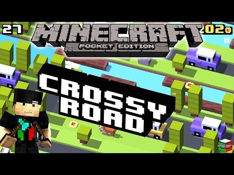 MCPE 0.10.5 Custom Map Crossy Road