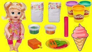 Baby Alive Snackin' Sarah, Big Doll that Eats Food & Talks with Play-doh