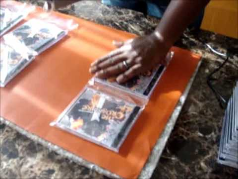 How to shrink wrap CDs-DIY