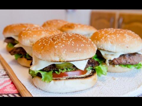 Сочный домашний бургер!