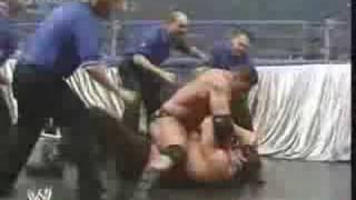 Batista beating The Great Khali
