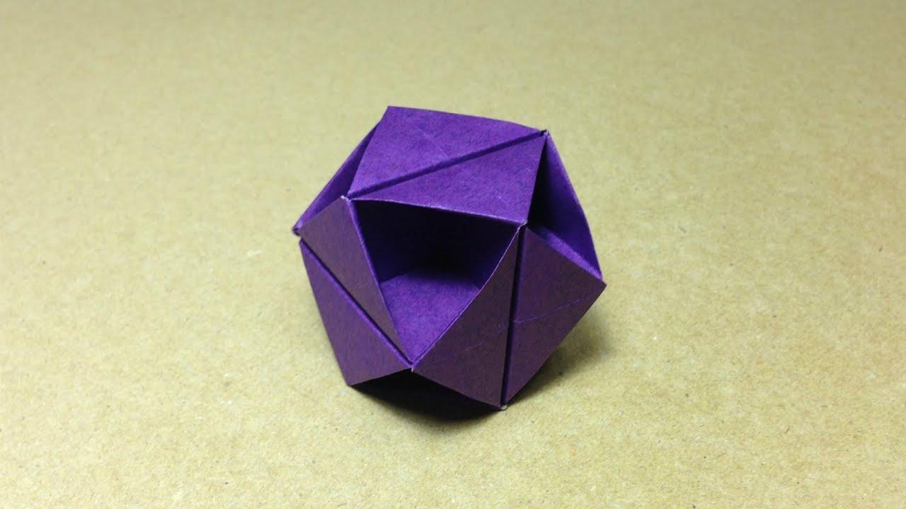 すべての折り紙 折り紙 くす玉 ユニット : Modular Origami Ball Tutorial